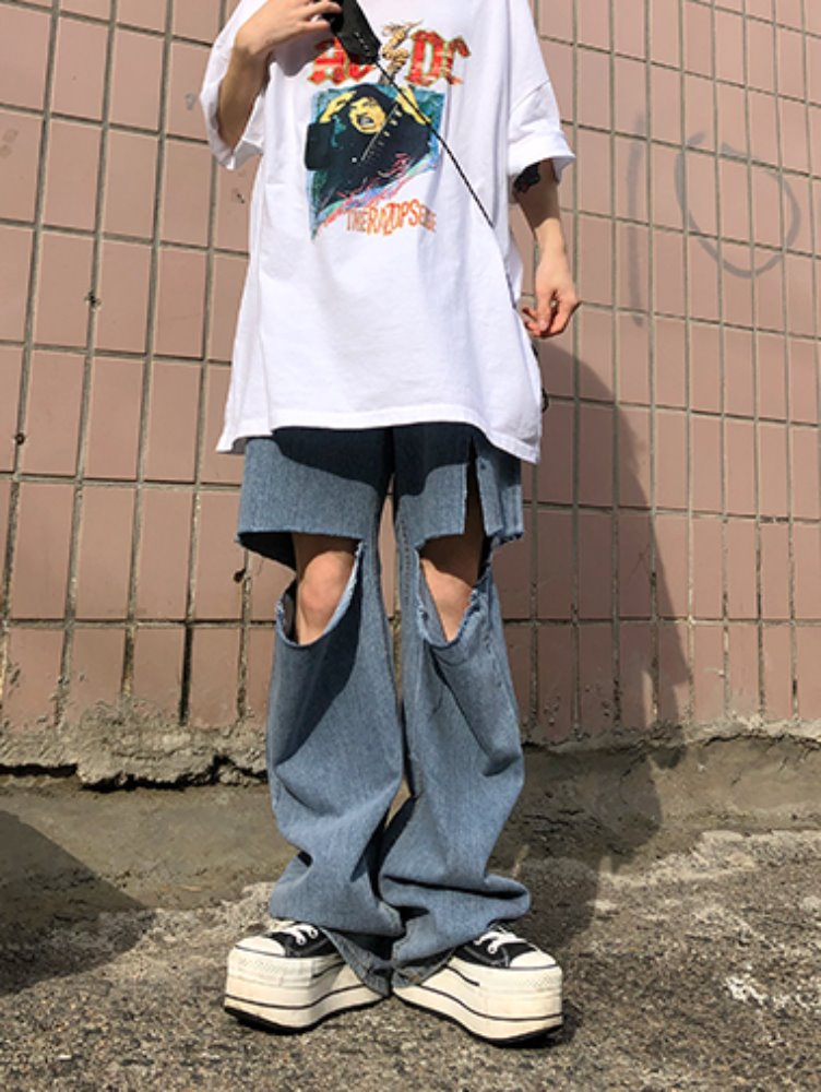 Vintage Cutting denim pants