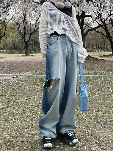 Big brush boy denim pants