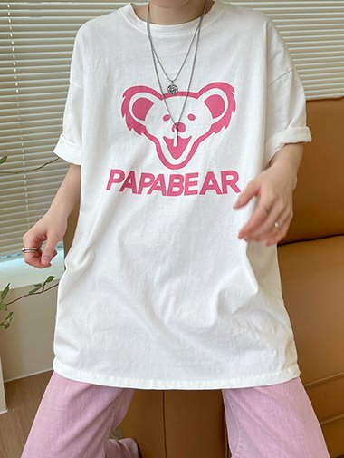 [unisex] Papa boxy T shirts / 2color