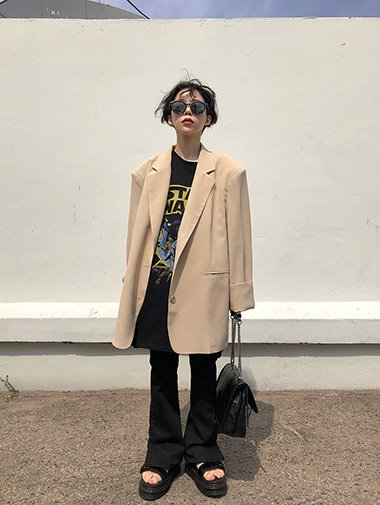 Spring daddy boxy jacket / 3color