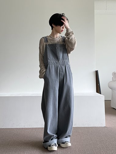 Mandy denim overall pants / 2color