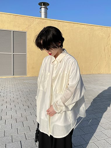 Overfit see through shirts / 2color